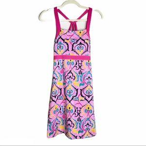 Soybu Swim Mini Dress Padded Halter Neck Boho Pink
